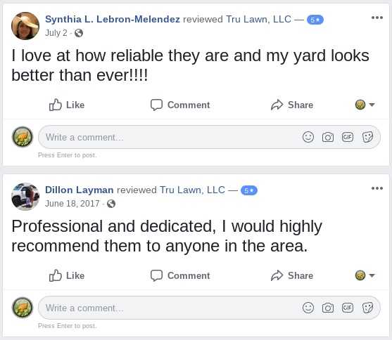 Customer Reviews for Tru Lawn, LLC